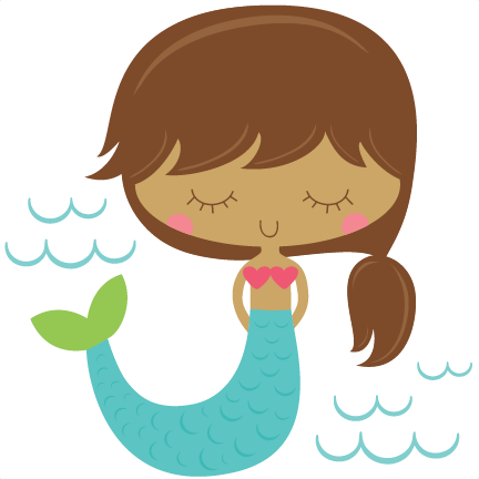Mermaid SVG scrapbook cut file cute clipart files for silhouette