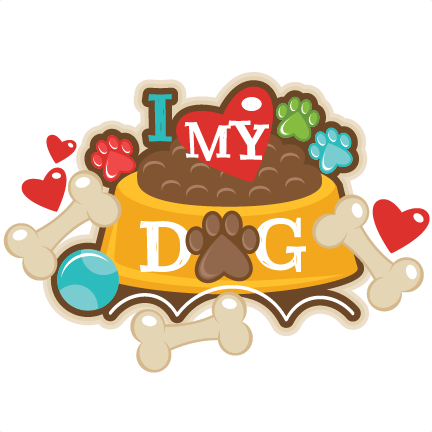 I Love My Dog Title Svg Scrapbook Cut File Cute Clipart