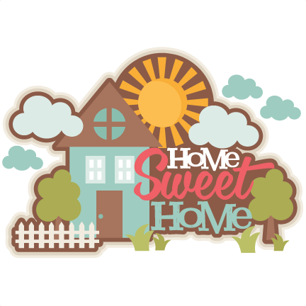 home sweet home title svg scrapbook cut file cute clipart files for silhouette cricut pazzles. Black Bedroom Furniture Sets. Home Design Ideas
