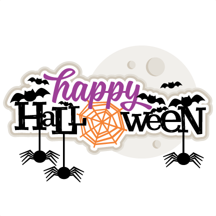 Happy Halloween Title SVG scrapbook cut file cute clipart ...