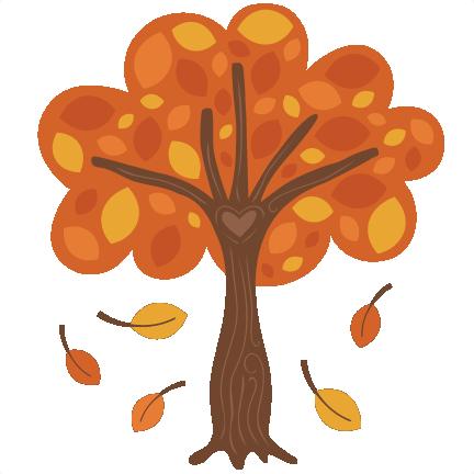 autumn tree svg scrapbook cut file cute clipart files for