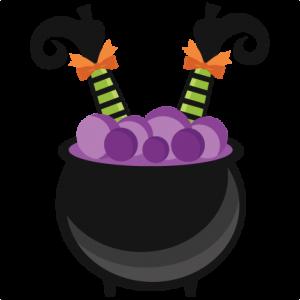 Witch in Cauldron SVG scrapbook cut file cute clipart ...