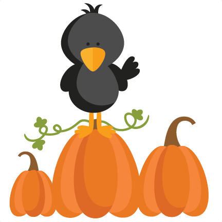 autumn crow svg scrapbook cut file cute clipart files for