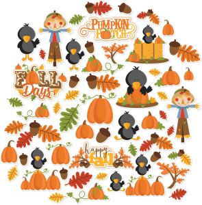 Miss Kate Designs Fall Days Paper Die Cuts for Scrapbooking, Card Making, Paper Crafting, Digital Paper