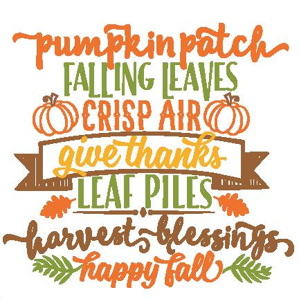 Autumn Word Art SVG scrapbook cut file cute clipart files ...