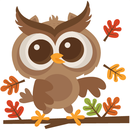 fall owl svg scrapbook cut file cute clipart files for