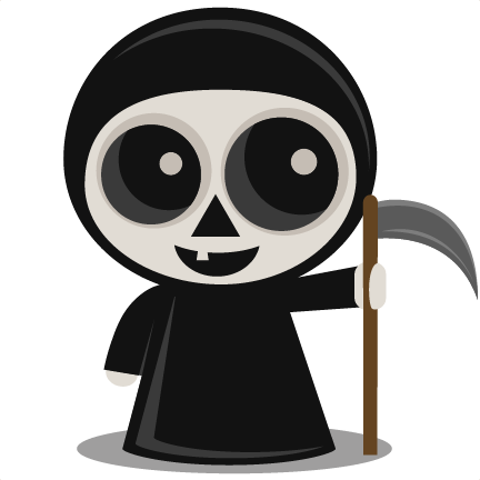 Grim Reaper SVG scrapbook cut file cute clipart files for ...