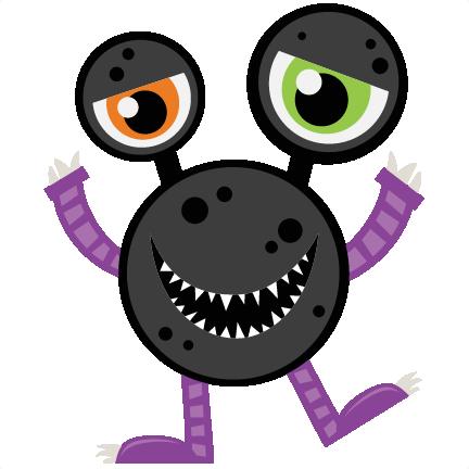 Halloween Monster SVG scrapbook cut file cute clipart ...
