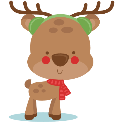 Boy Winter Deer SVG scrapbook cut file cute clipart files ...