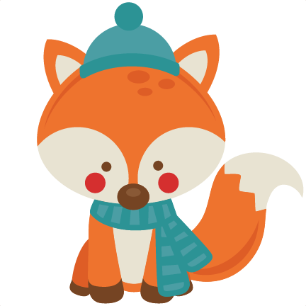 winter fox svg scrapbook cut file cute clipart files for