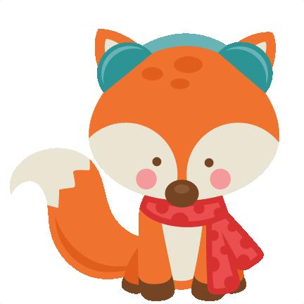 Girl Winter Fox SVG Scrapbook Cut File Cute Clipart Files For Silhouette Cricut Pazzles Free Svgs Svg Cuts