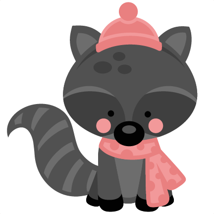 girl winter raccoon svg scrapbook cut file cute clipart christmas shopping clip art for facebook christmas shopping clipart funny