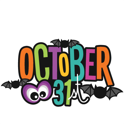 October 31st Title SVG scrapbook cut file cute clipart ...