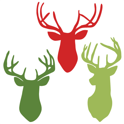 Deer Heads Svg Scrapbook Cut File Cute Clipart Files For Silhouette Cricut Pazzles Free Svgs Free Svg Cuts Cute Cut Files