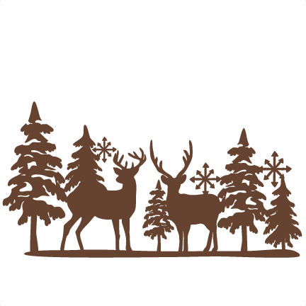 Winter Reindeer Svg Scrapbook Cut File Cute Clipart Files