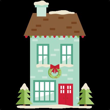 Christmas House SVG scrapbook cut file cute clipart files ...