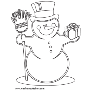 Snowman Coloring Page  SVG scrapbook cut file cute clipart files for silhouette cricut pazzles free svgs free svg cuts cute cut files