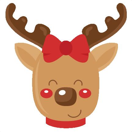 Reindeer SVG scrapbook cut file cute clipart files for ...