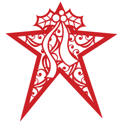 Christmas Star Silhouette.Christmas Star Svg Scrapbook Cut File Cute Clipart Files For