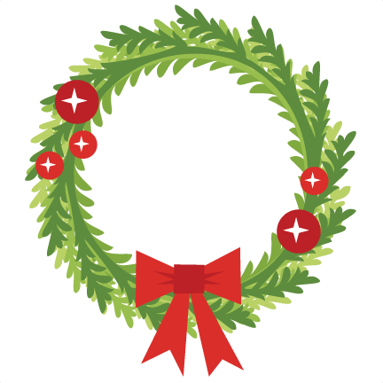 Christmas Wreath Silhouette Free.Christmas Wreath Svg Scrapbook Cut File Cute Clipart Files