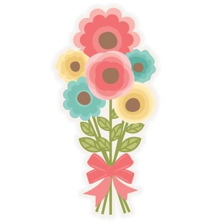 Flower Bouquet Svg Scrapbook Cut File Cute Clipart Files For