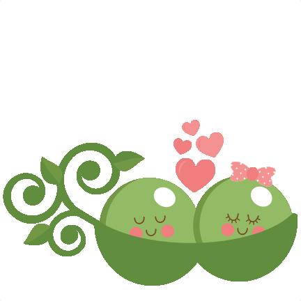 Peas In Love Svg Scrapbook Cut File Cute Clipart Files For