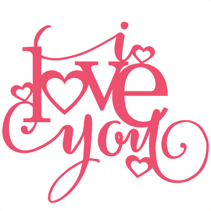 Download I Love You Title SVG scrapbook cut file cute clipart files ...