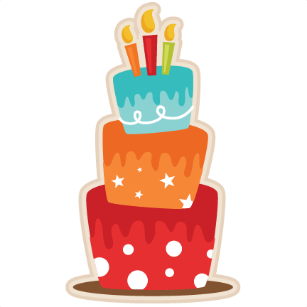 Birthday Cake Svg Scrapbook Cut File Cute Clipart Files