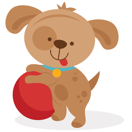 Playing Puppy SVG Scrapbook Cut File Cute Clipart Files