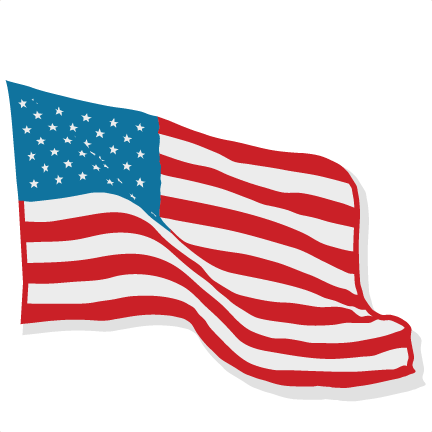 American flag svg. Scrapbook cut file cute