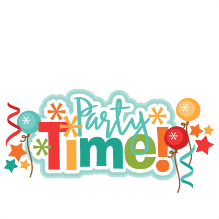 Party Time Title SVG scrapbook cut file cute clipart files ...