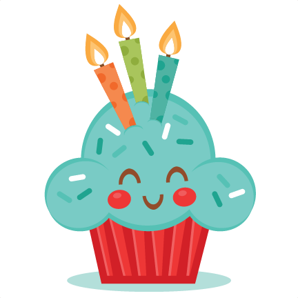 cute birthday cupcake svg scrapbook cut file cute clipart files for