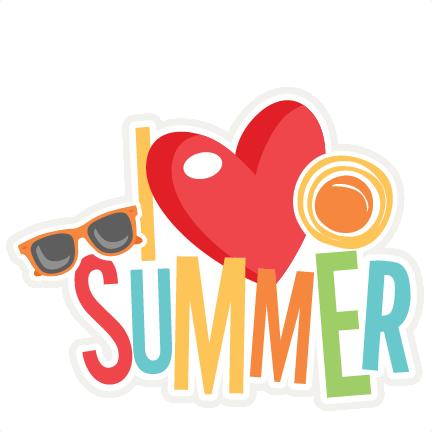 I Love Summer Title SVG scrapbook cut file cute clipart ...