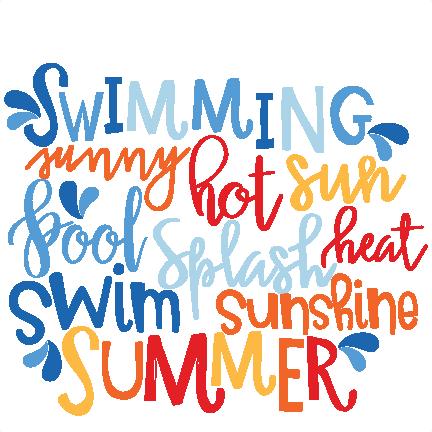 Summer Word Art SVG scrapbook cut file cute clipart files