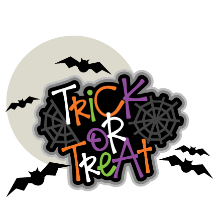 Trick or Treat Title SVG scrapbook cut file cute clipart ...