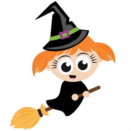 Halloween Witch SVG scrapbook cut file cute clipart files ...