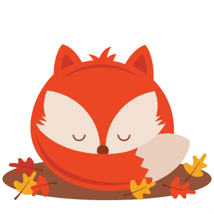 sleeping fall fox svg scrapbook cut file cute clipart files for rh misskatecuttables com cute fall animal clipart cute fall leaves clipart