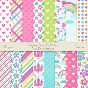 Miss Kate Cuttables Scrapbook Paper - Fairytale - Paper Pack