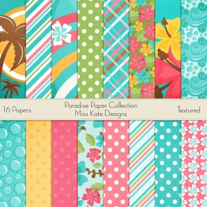 Miss Kate Cuttables Scrapbook Paper - Paradise - Paper Pack