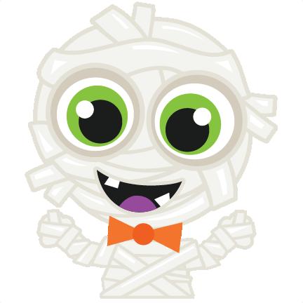 Halloween Mummy scrapbook cut file cute clipart files for ...
