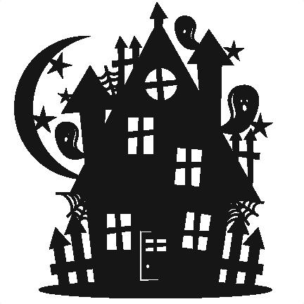 Halloween Haunted House Scrapbook Cut File Cute Clipart Files For Silhouette Cricut Pazzles Free Svgs Free Svg Cuts Cute Cut Filess