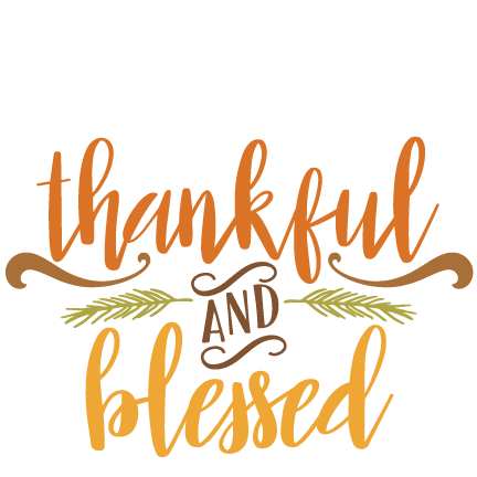 thankful and blessed quote svg scrapbook cut file cute clipart files