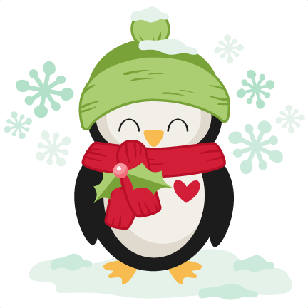 Winter Christmas Penguin SVG scrapbook cut file cute ...