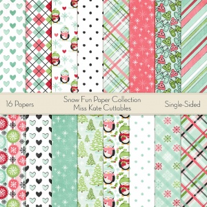 Miss Kate Cuttables Christmas Basics Paper Pack for Scrapbooking, Card Making, Paper Crafting, Digital Paper