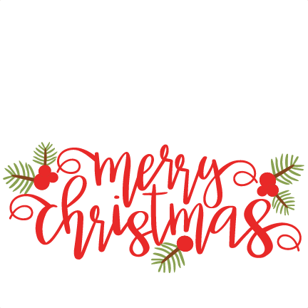 Merry christmas cute. Phrase svg scrapbook cut