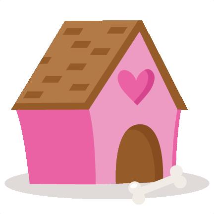 Valentine Puppy Dog House SVG scrapbook cut file cute ...