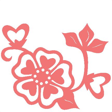 Download Heart Flower scrapbook cut file cute clipart files for ...