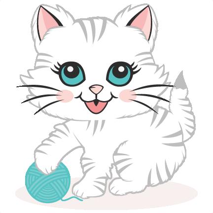 Download Cute Kitten SVG scrapbook cut file cute clipart files for ...