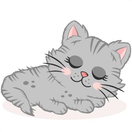 Download Cute Kitten sleeping SVG scrapbook cut file cute clipart ...