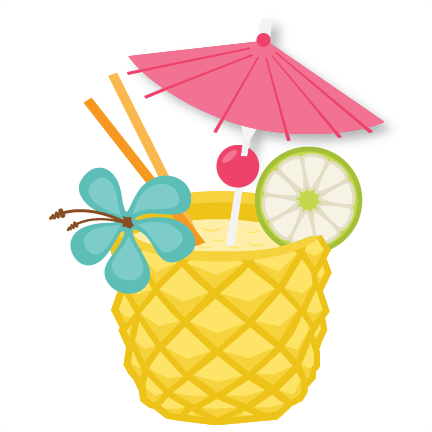 Pineapple smiling. Drink svg scrapbook cut